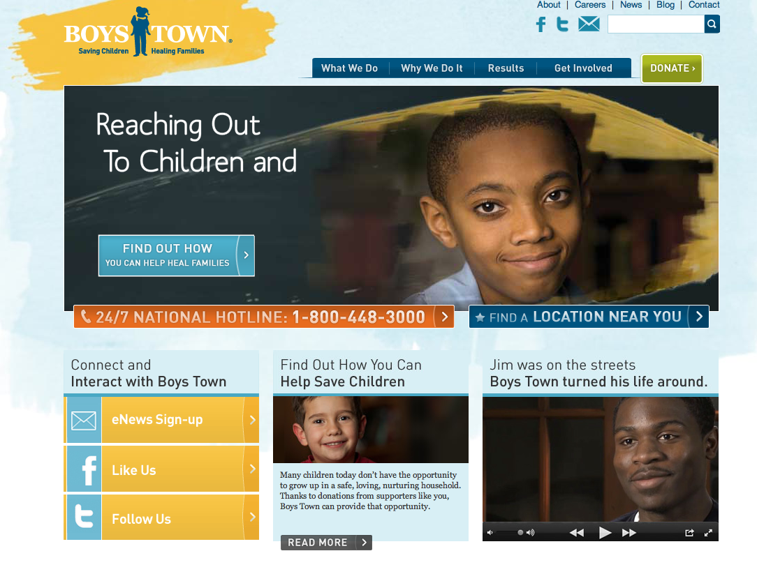 website content for boys town