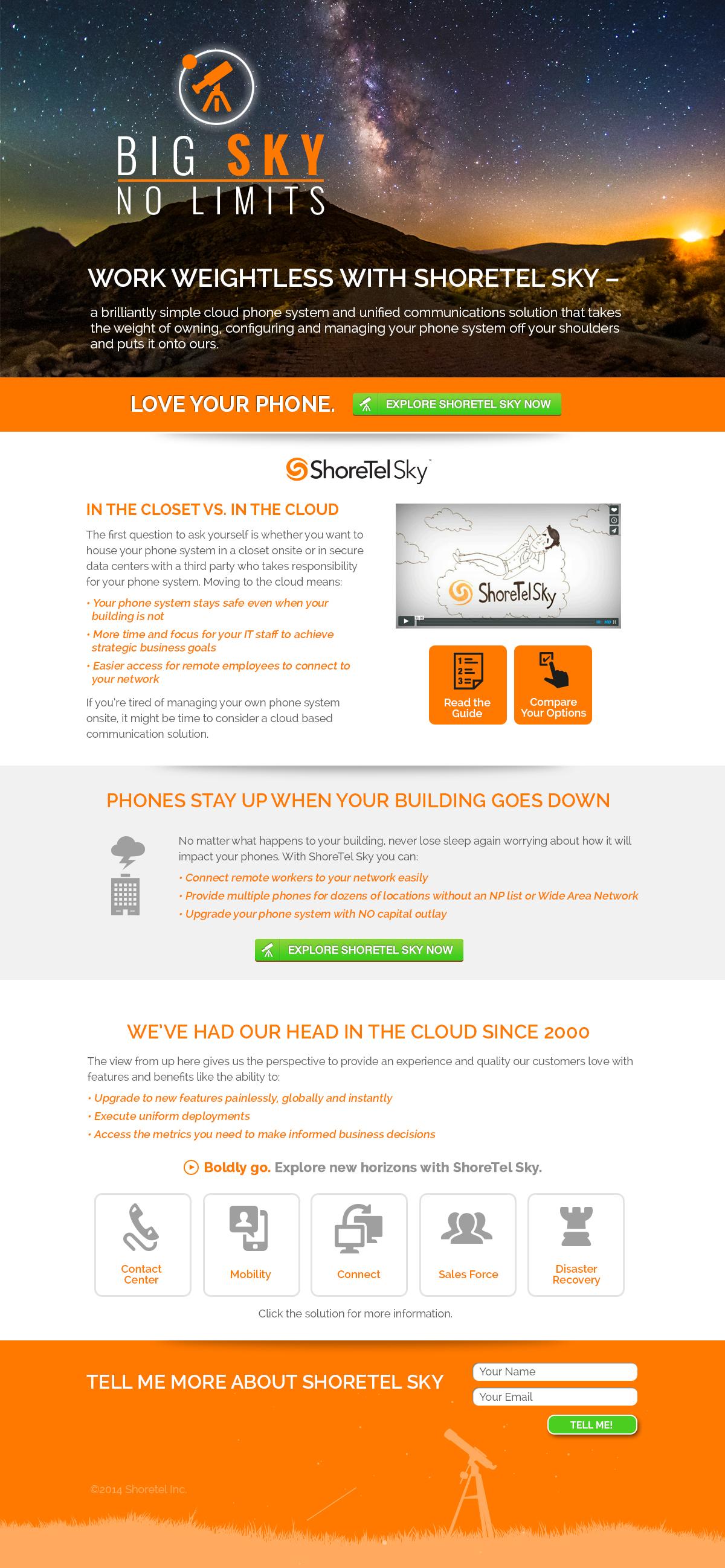 BigSky-LandingPage - ShoreTel Sky Campaign Copy Example