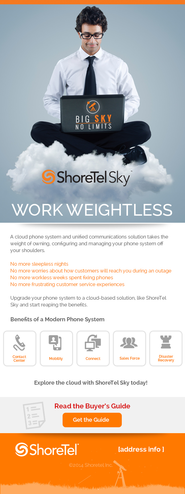 ShoreTel Sky email marketing