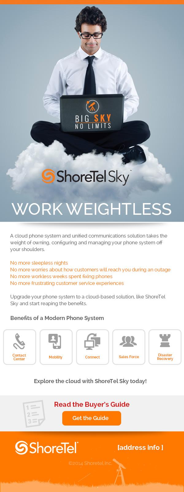 ShoreTel Sky email marketing