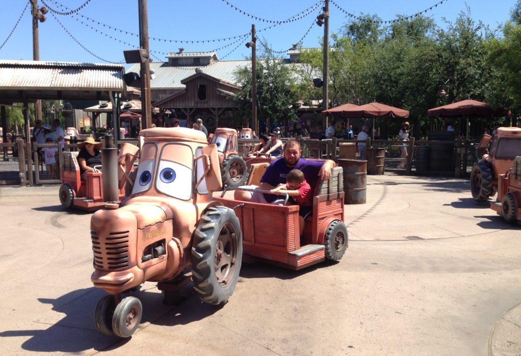 mater car ride at california adventure park